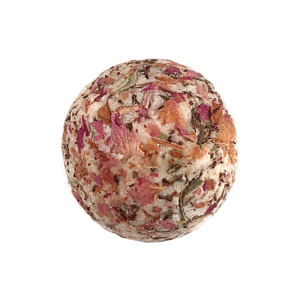 Badebombe aus Rosenblüten